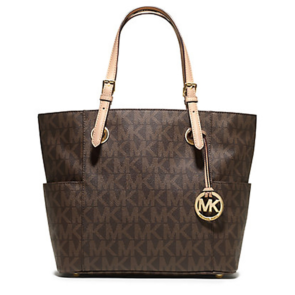 Michael Kors Jet Set Signature Logo Toe Handbag