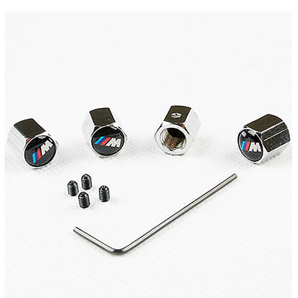 BMW M Logo Chrome Valve Caps