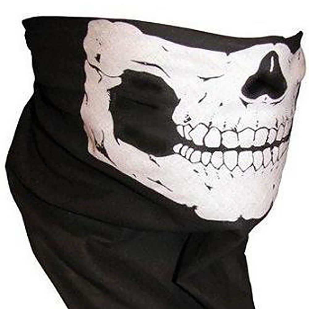 Black Seamless Skull Face Mask