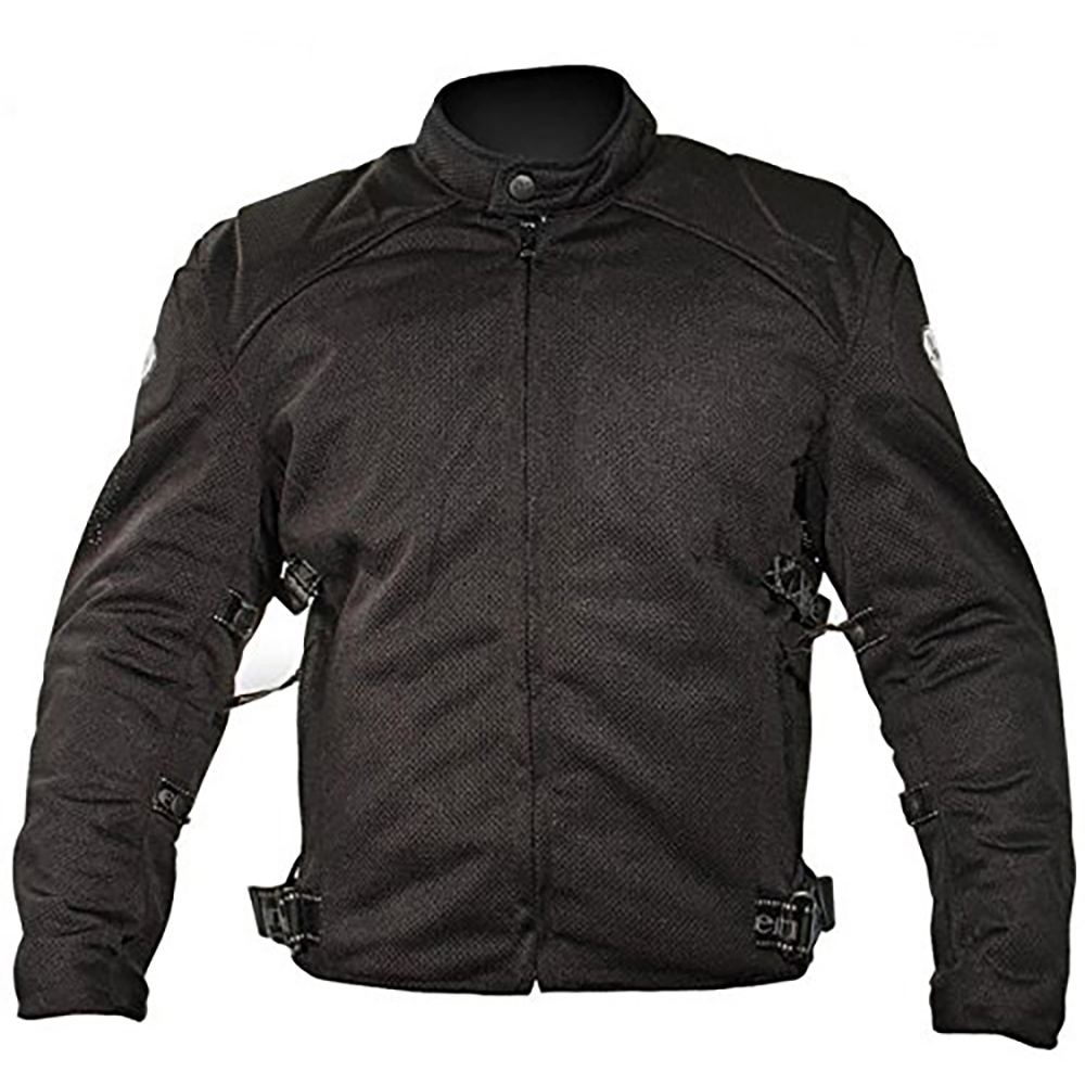 Xelement Mens Black Mesh Motorcycle Jacket Padded with Level-3 Advanced Armor