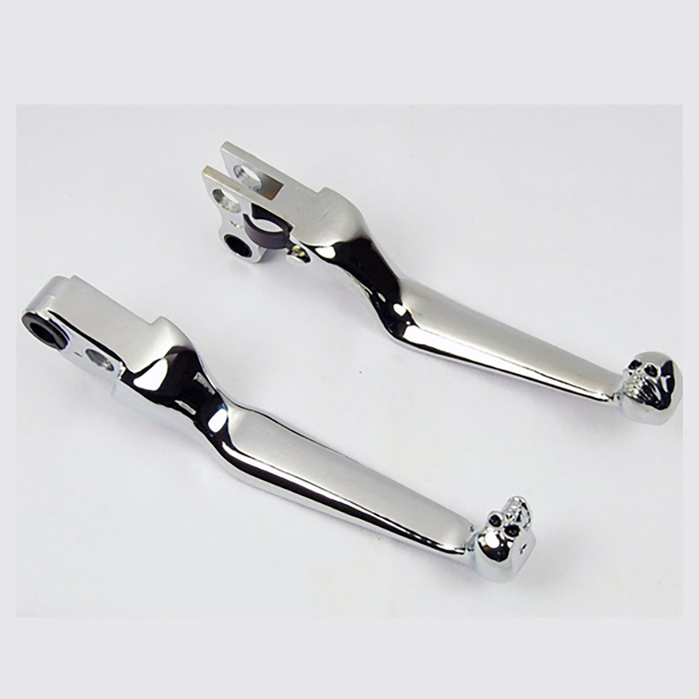 Chrome Skull Clutch & Brake Lever
