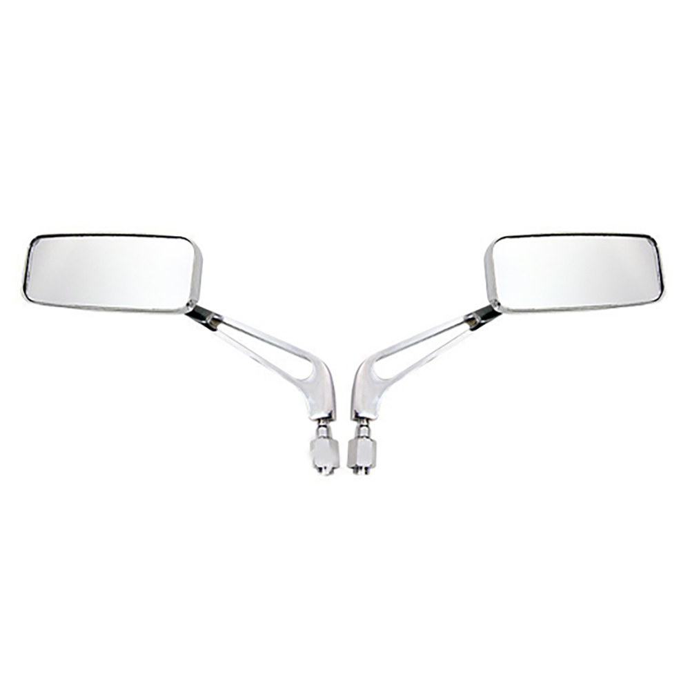 Chrome Rectangle Motorcycle Mirrors