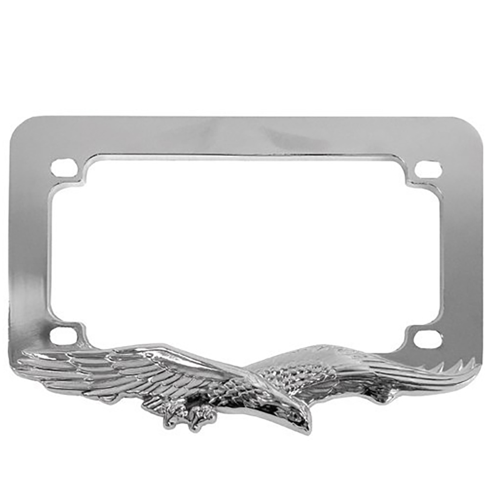 Chrome Eagle Motorcycle License Plate Frame