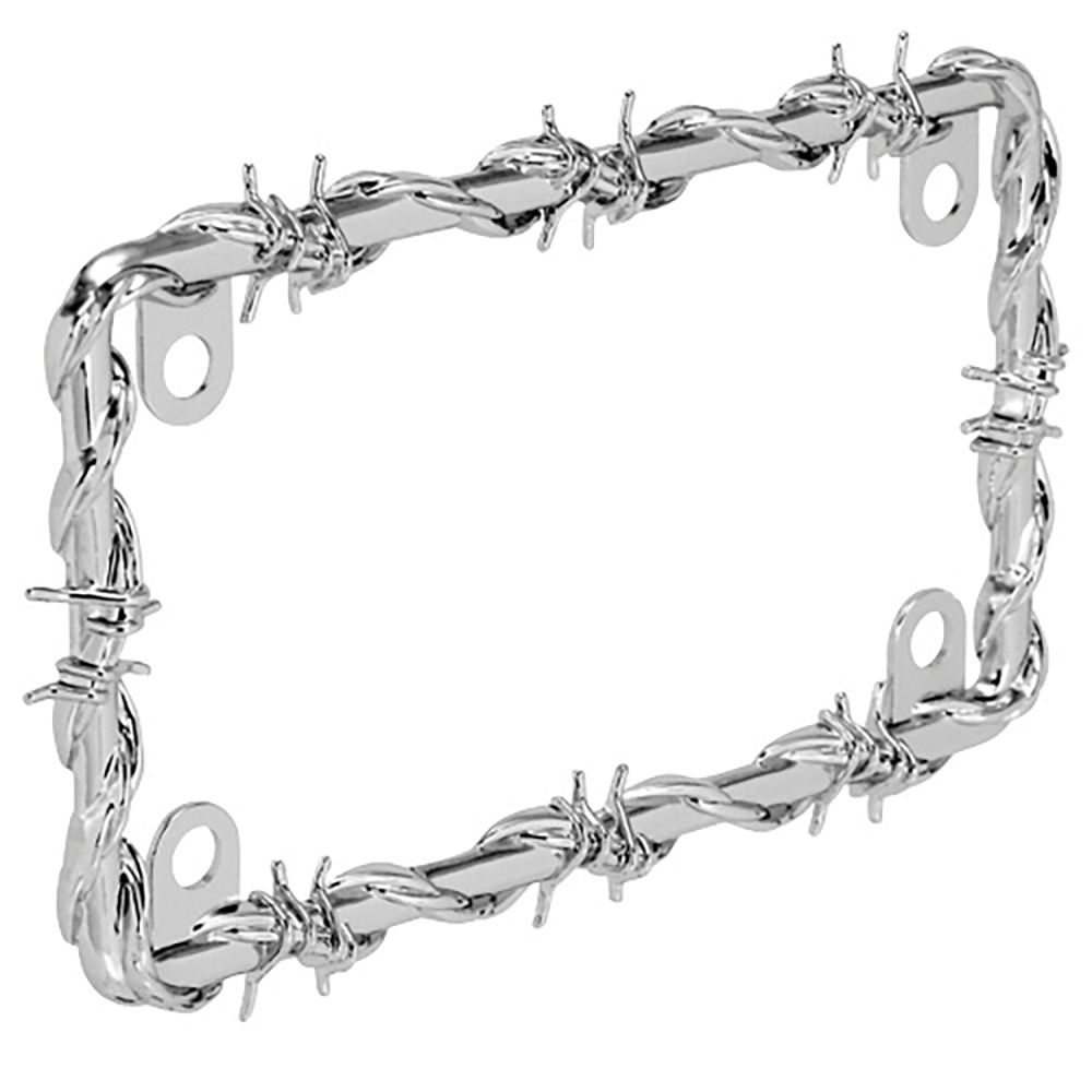 Bell Automotive Barbed Wire Motorcycle License Plate Frame