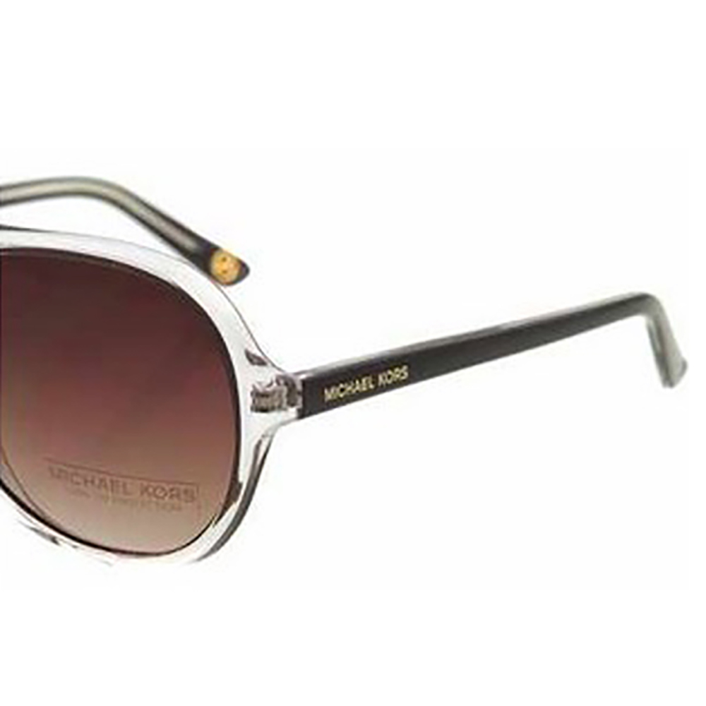 e545404465 Michael Kors 2811 210 Clear and Plum Caicos Aviator Sunglasses ...