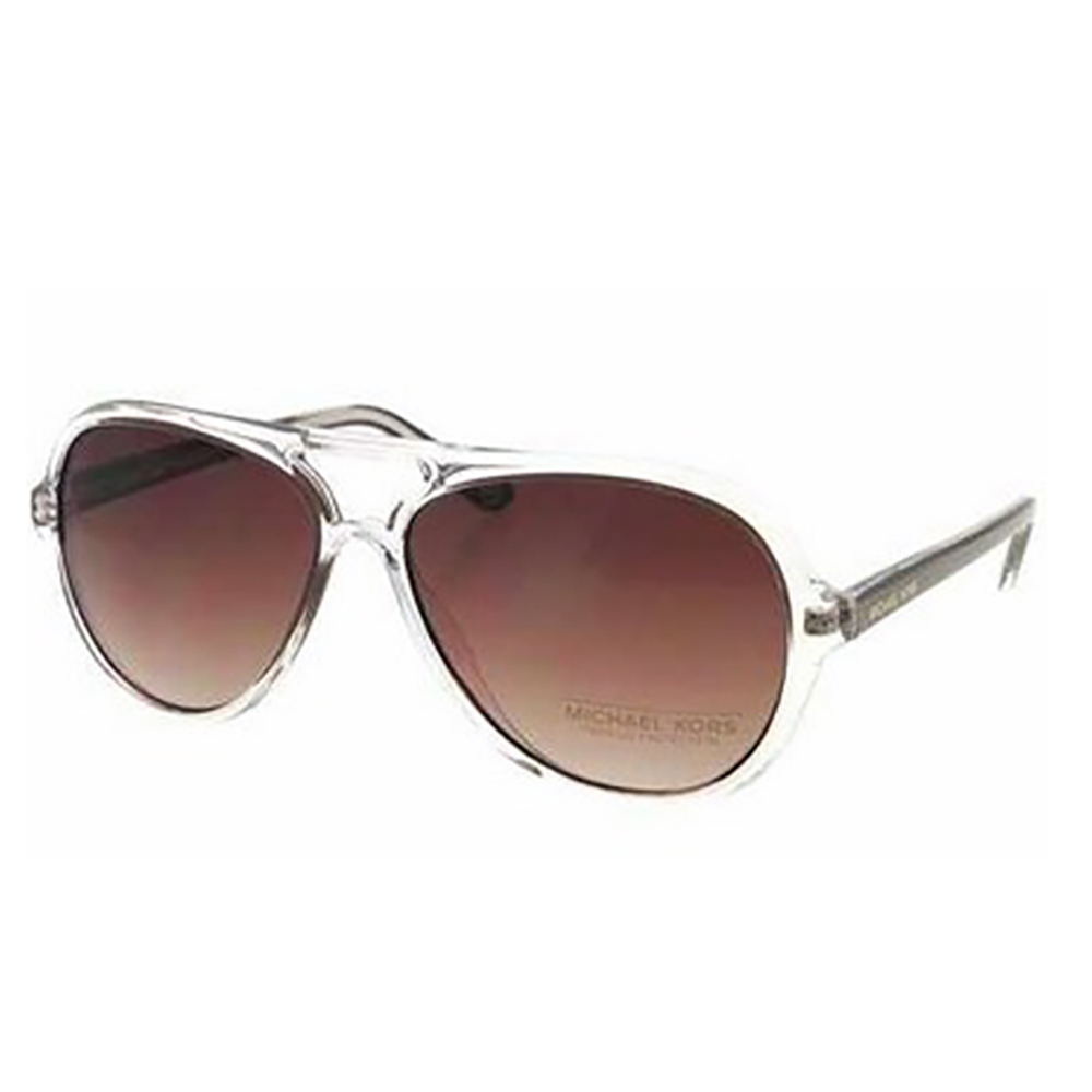 Michael Kors 2811 210 Clear and Plum Caicos Aviator Sunglasses