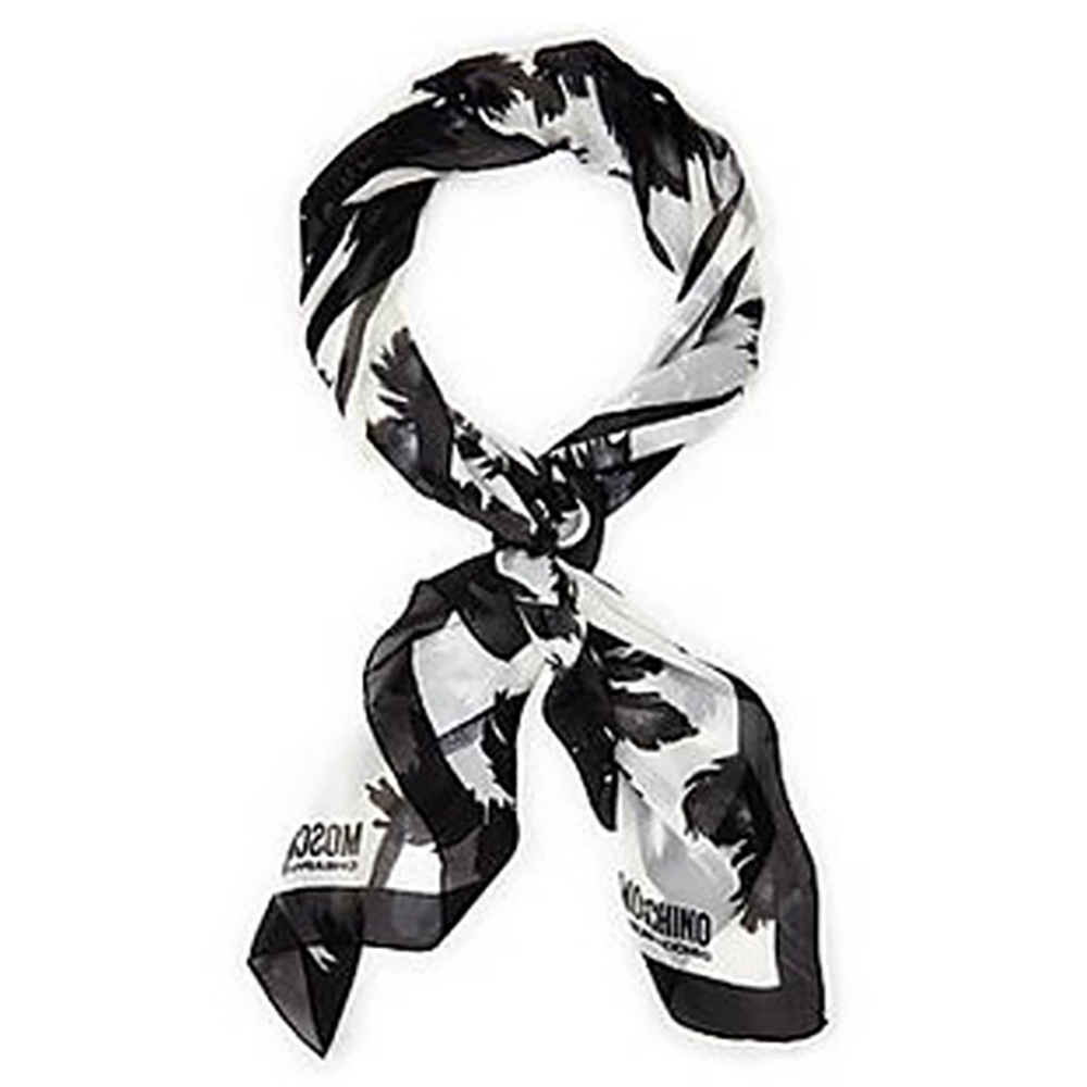 MOSCHINO Palm Print Oblong Scarf