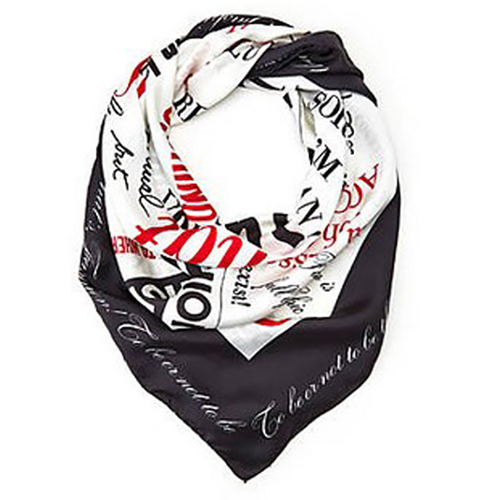 MOSCHINO Graphic Print Square Scarf