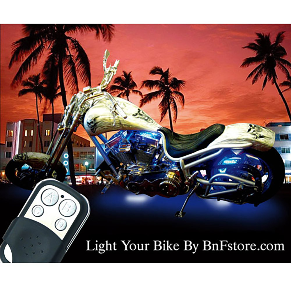 Motorcycle Led Light Kit 15 Color Remote Controled