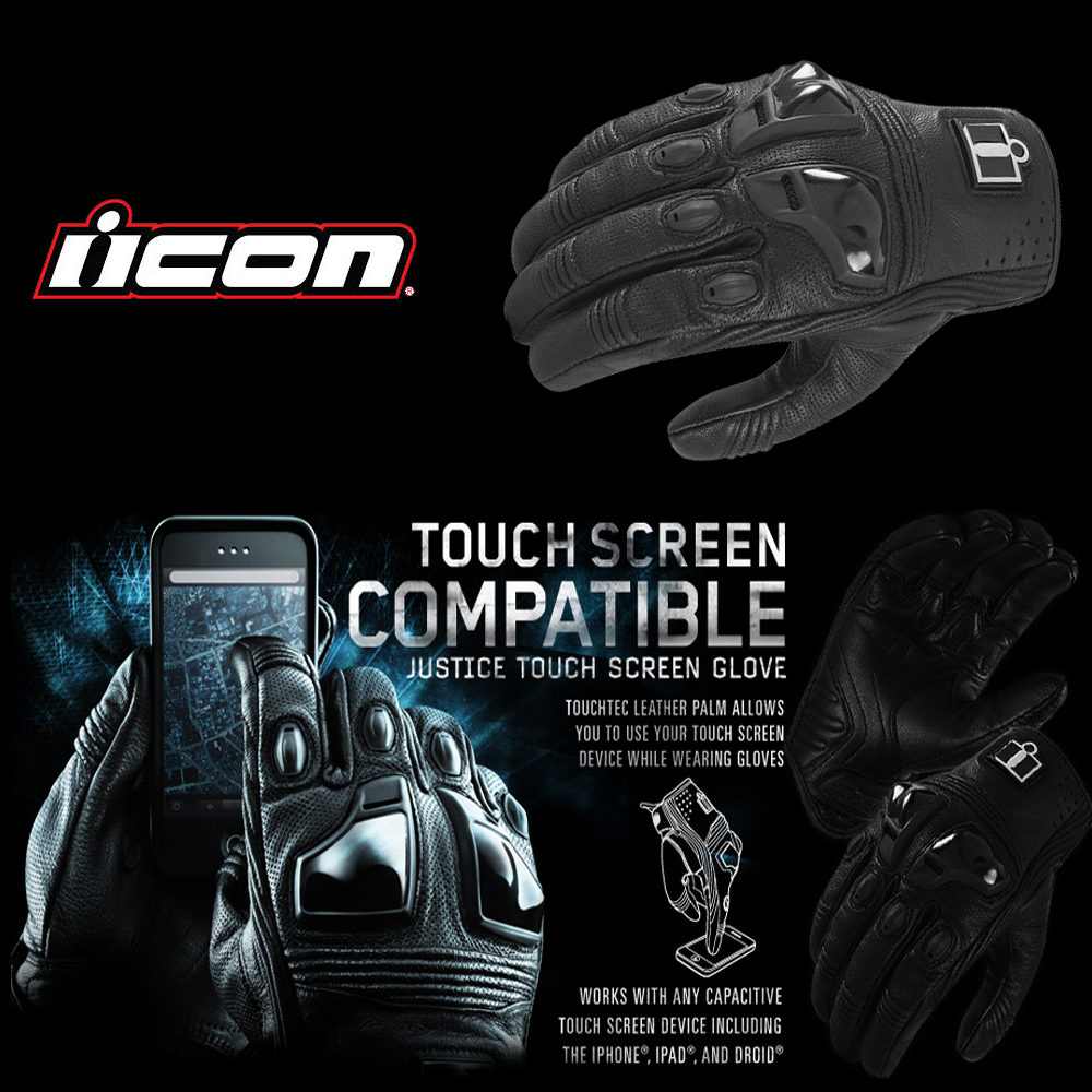 Icon Justice Touch Gloves
