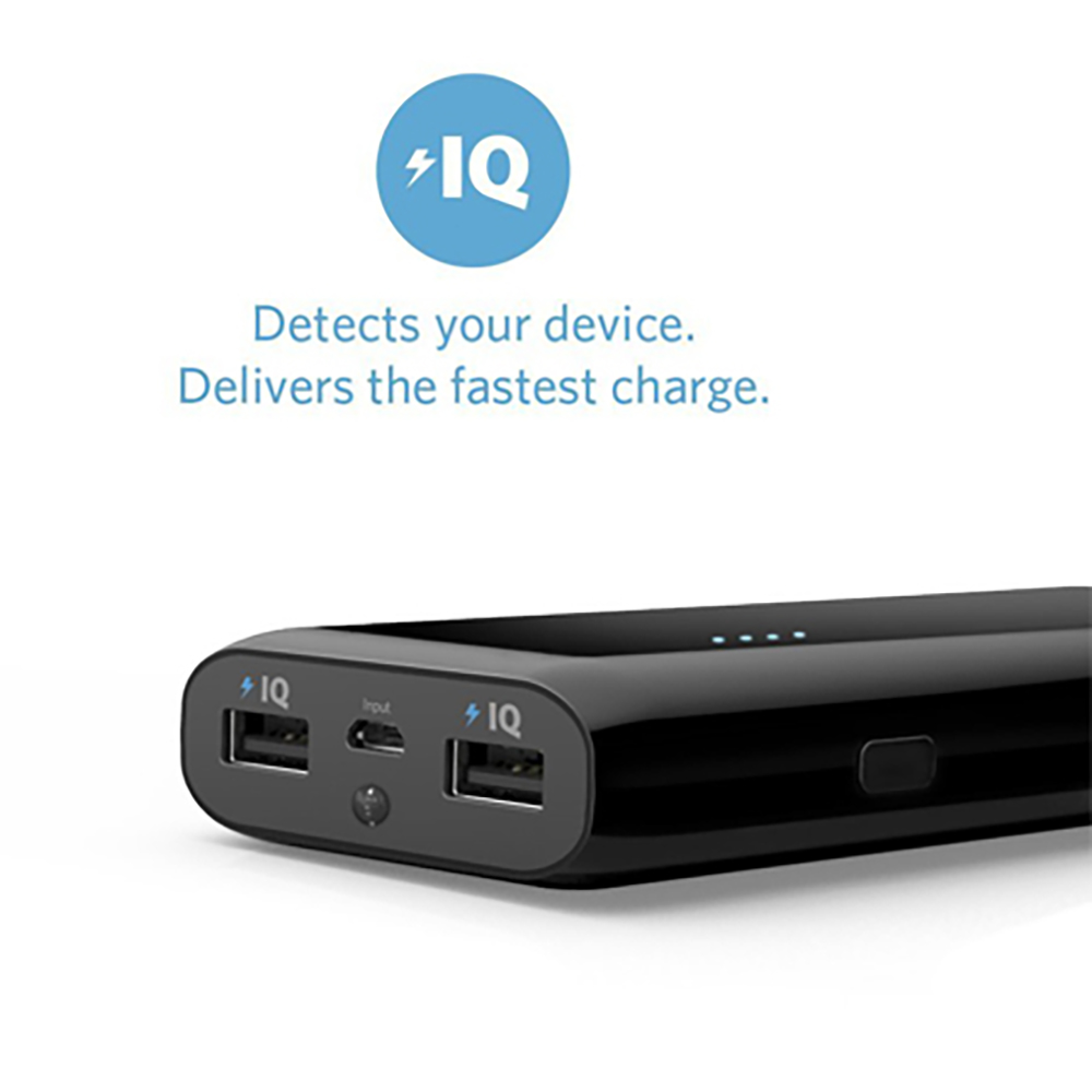 Anker® 2nd Gen Astro E5 16000mAh External Battery Pack with PowerIQ™ Technology 2-Port 3A Output Portable Charger Power Bank.
