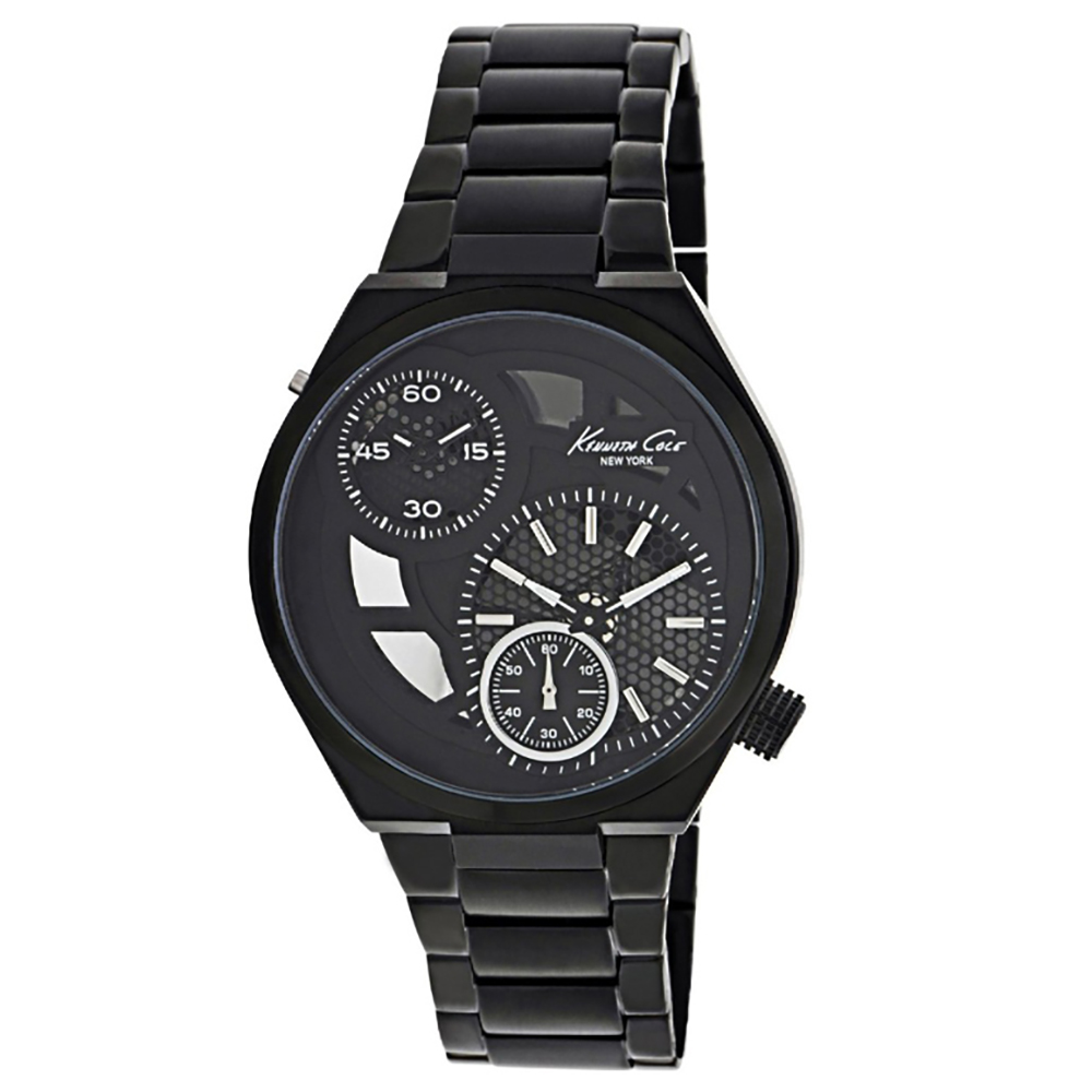 Kenneth Cole New York Silicone – Black Men's watch #KC8028