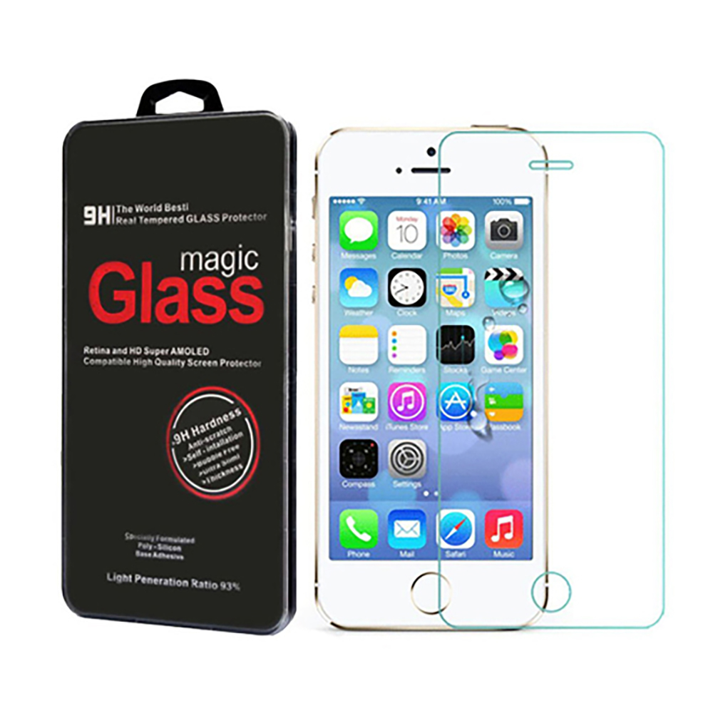 The Original ABC Premium 9h Real Tempered Glass Screen Protector Film for Iphone 5 5c 5s