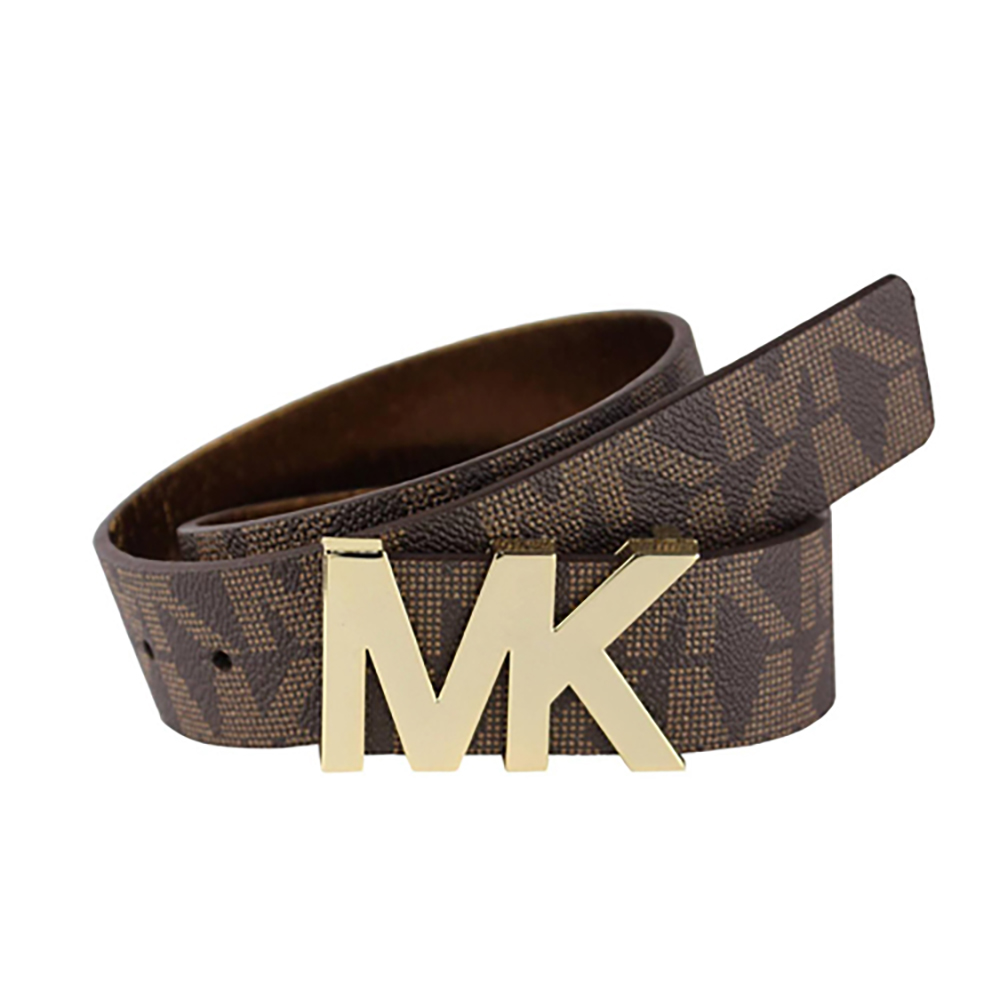 Michael Kores Premium MK LogoLEATHER BELT