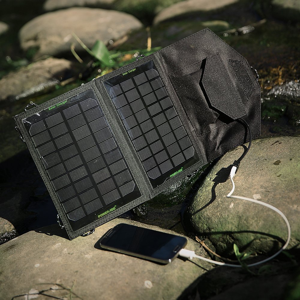 Poweradd™ 7W Foldable Solar Panel Portable Solar Charger
